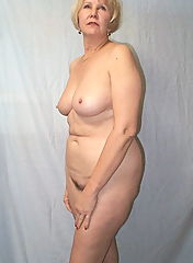 Amazing old woman is naked