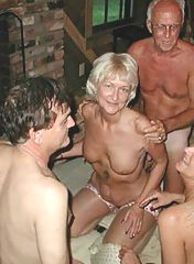 Granny is having fun with her friends