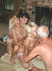 Gorgeous foursome with old ladies