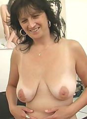 Busty tanned GILF gets some sperm
