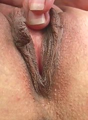 Hot masturbation in a close-up