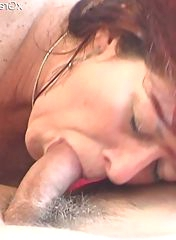 GILF is swallowing this cock